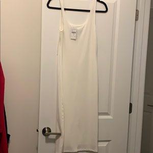 NWT fashion nova off white midi dress